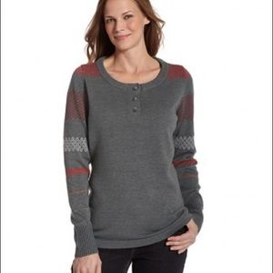 Woolrich Fair Isle Avalanche Henley Sweater Small